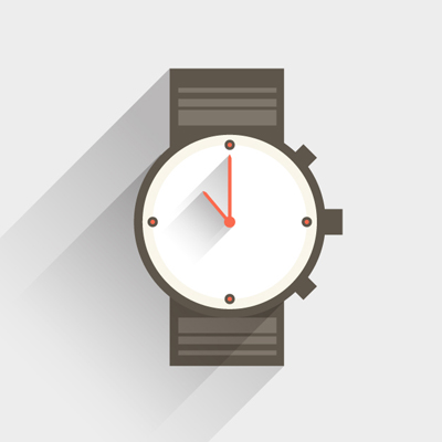 Free Vector of the Day #476: Flat Watch