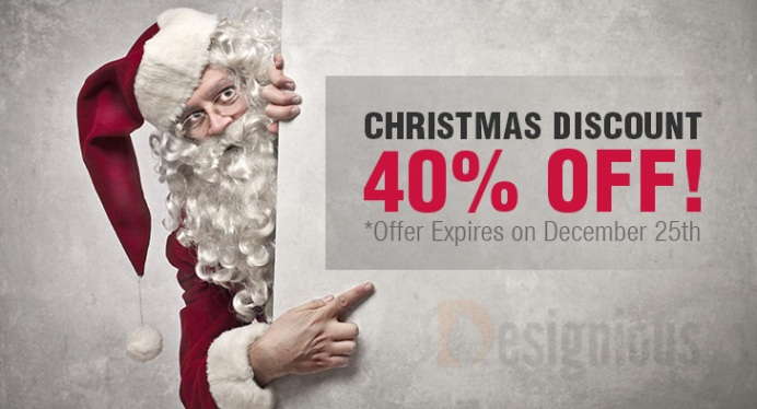 Christmas Discount: 40% off All Products at Designious.com! - PIXEL77