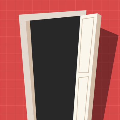 Free Vector of the Day #484: Cartoon Door