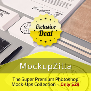 Deal of the Week: Super Premium Photoshop Mock-Ups with a Commercial License