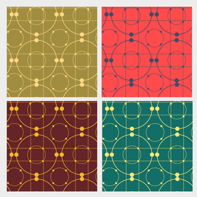 Free Vector of the Day #505: Geometric Patterns