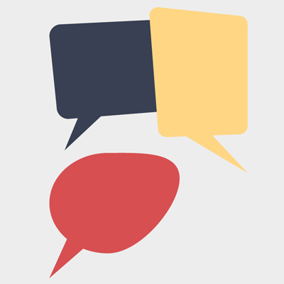 Free Vector of the Day #515: Flat Chat Bubbles