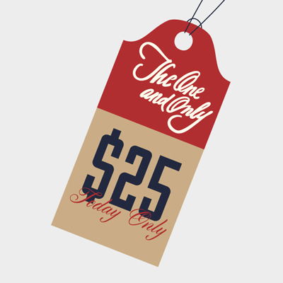 Free Vector of the Day #513: Flat Price Tag