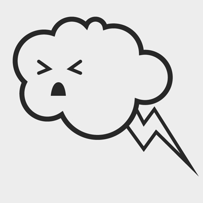 Free Vector of the Day #511: Thunder Cloud