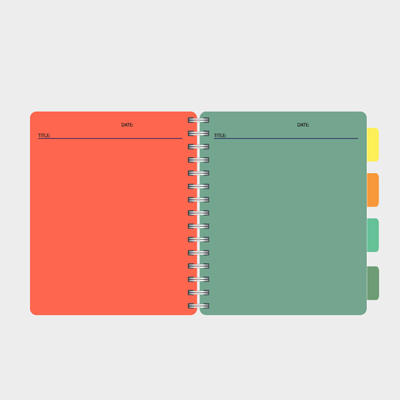 Free Vector of the Day #527: Notebook Template