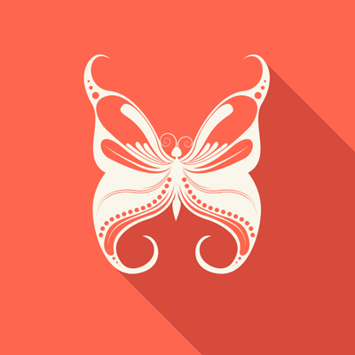 Free Vector of the Day #529: Ornate Butterfly