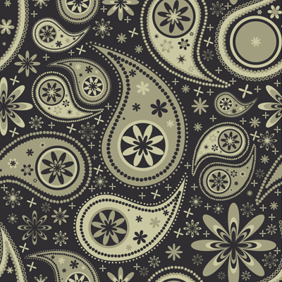 Free Vector of the Day #550: Paisley Pattern