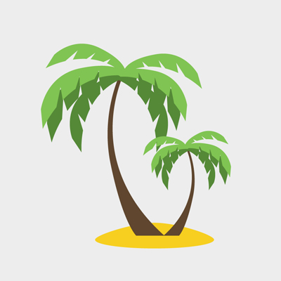 free vector of the day 582 palm trees rh pixel77 com free vector palm tree graphics free vector palm tree silhouette