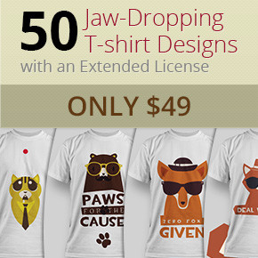 Deal of the Week: 50 Jaw-Dropping T-shirt Designs – Only $49