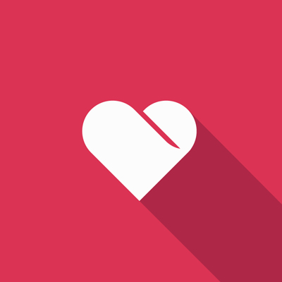 Free Vector of the Day #594: Flat Heart