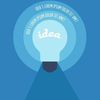 Free Vector of the Day #588: Editable Idea Concept