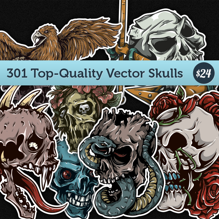 Deal of the Week: Get 301 Top-Quality Vector Skulls for Just $24 and Save $381