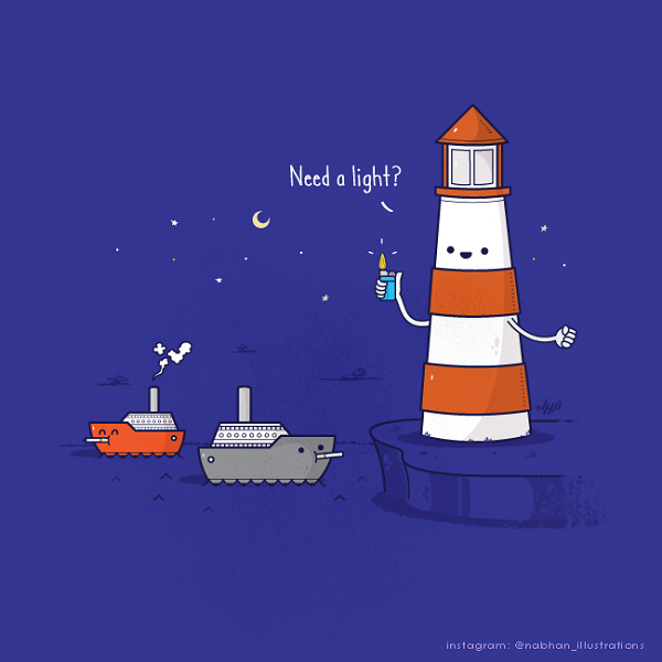 Witty Illustrations By Nabhan Abdullatif  Visual Puns With