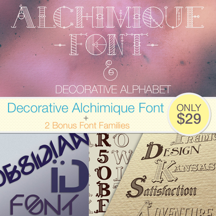 Deal of the Week: Decorative Alchimique Font + Vector Files & Huge Bonus – Only $29