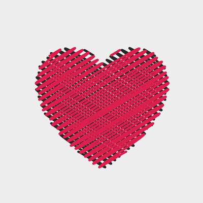 Free Vector of the Day #605: Sewn Heart Vector