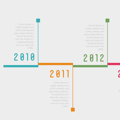Free Vector of the Day #599: Timeline Infograph Vector