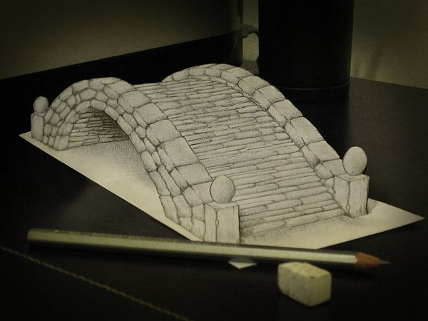 Anamorphic Pencil Art by Alessandro Diddi