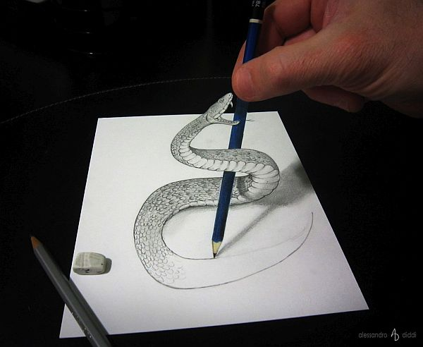 Anamorphic Pencil Art by Alessandro Diddi - PIXEL77