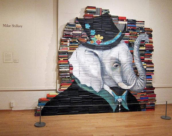 Artist-of-the-Week-Art-Painted-on-Stacks-of-Books-by-Mike-Stilkey-10
