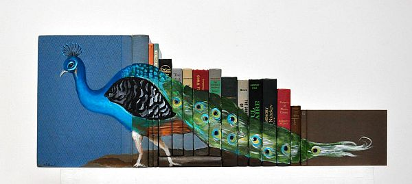 Artist-of-the-Week-Art-Painted-on-Stacks-of-Books-by-Mike-Stilkey-2