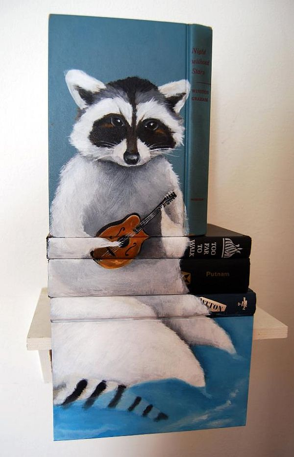 Artist-of-the-Week-Art-Painted-on-Stacks-of-Books-by-Mike-Stilkey-3