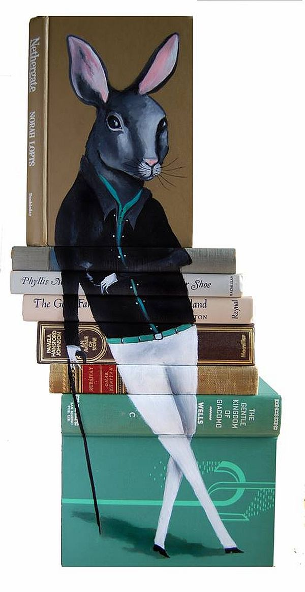 Artist-of-the-Week-Art-Painted-on-Stacks-of-Books-by-Mike-Stilkey-5