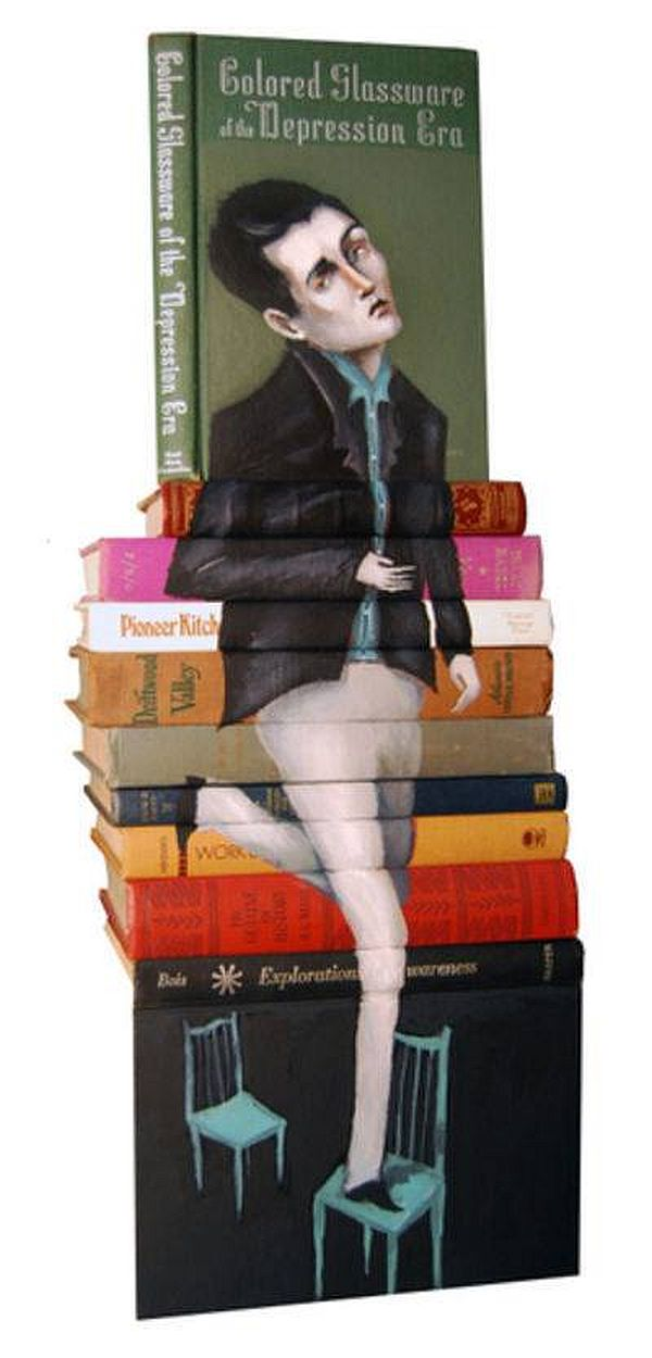 Artist-of-the-Week-Art-Painted-on-Stacks-of-Books-by-Mike-Stilkey-7