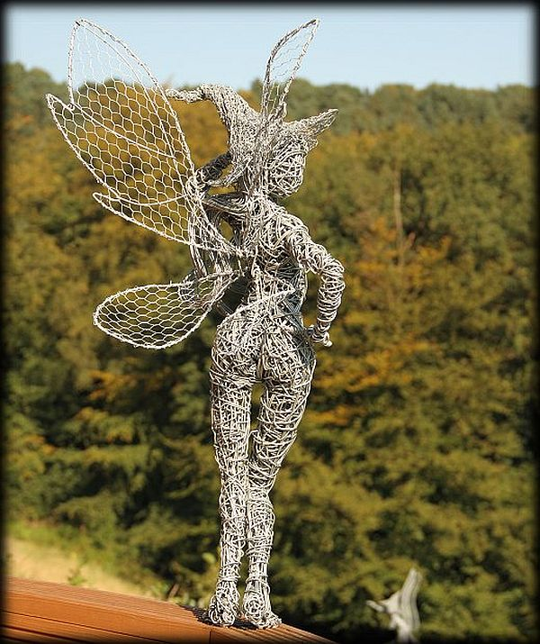 wire sculptures with a twist by robin wight pixel77