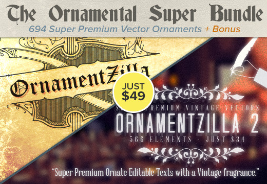 Deal of the Week: The Ornamental Super Bundle – Super Premium Vectors & Brushes for Just $49