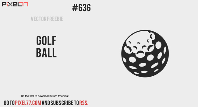free vector of the day 636 golf ball vector pixel77