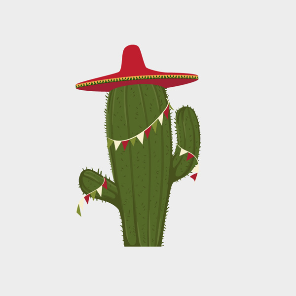 Free Vector of the Day #642: Festive Cactus Vector
