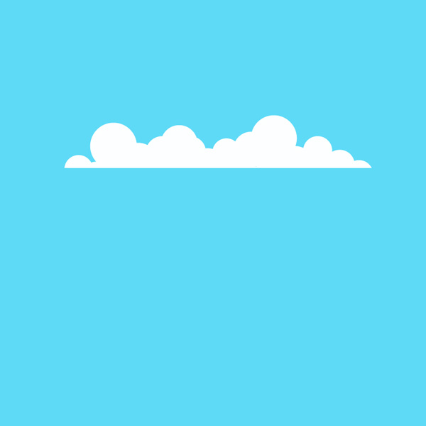 Free Vector of the Day #633: Fluffy Cloud Vector