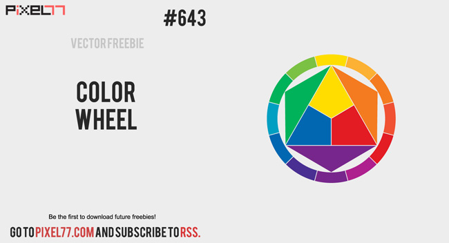 Free Vector Of The Day 643 Color Wheel Vector Pixel77