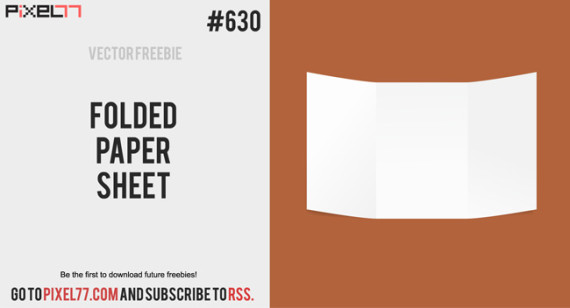 Download Folded Paper Sheet Vector for FREE.