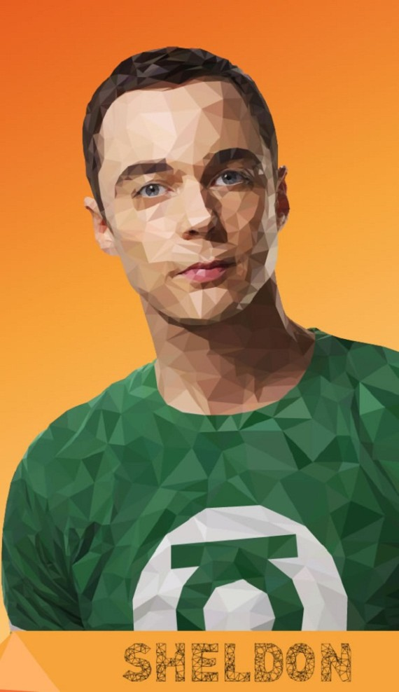 Artist-of-the-Week-Awesome-Low-Poly-Illustrations-of-The-Big-Bang-Theory-Cast-by-Mordi-Levi-1