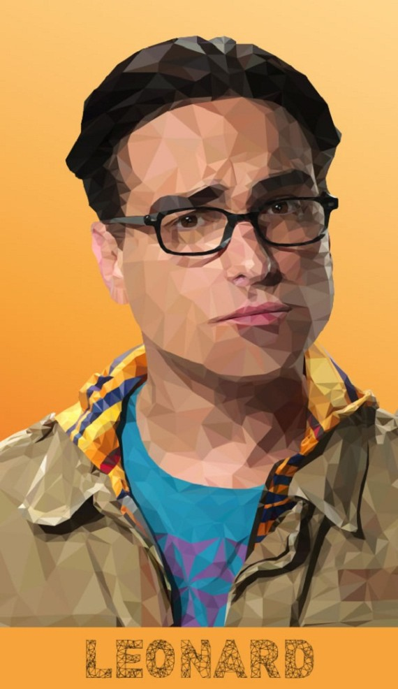 Artist-of-the-Week-Awesome-Low-Poly-Illustrations-of-The-Big-Bang-Theory-Cast-by-Mordi-Levi-2