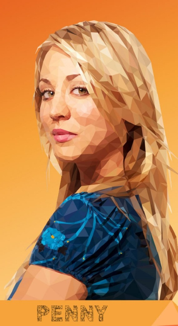 Artist-of-the-Week-Awesome-Low-Poly-Illustrations-of-The-Big-Bang-Theory-Cast-by-Mordi-Levi-3