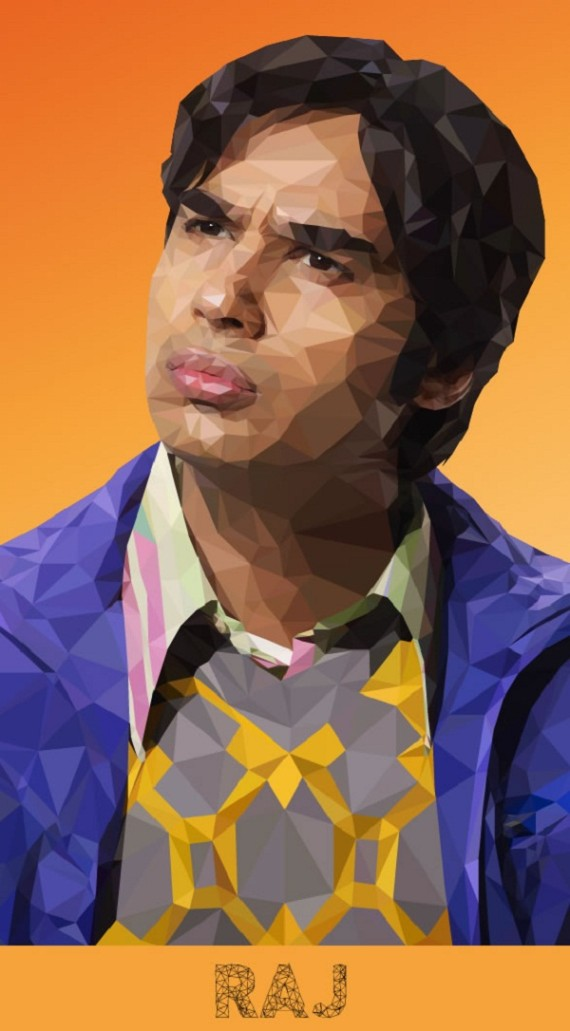 Artist-of-the-Week-Awesome-Low-Poly-Illustrations-of-The-Big-Bang-Theory-Cast-by-Mordi-Levi-4