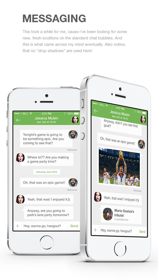 Concept Redesign of WhatsApp for iOS8