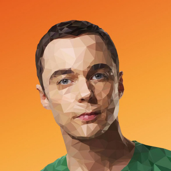 Artist of the Week: Awesome Low-Poly Illustrations of The Big Bang Theory Cast by Mordi Levi