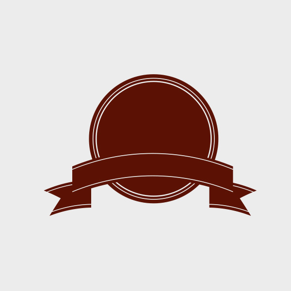 Free Vector of the Day #660: Badge with a Ribbon Vector