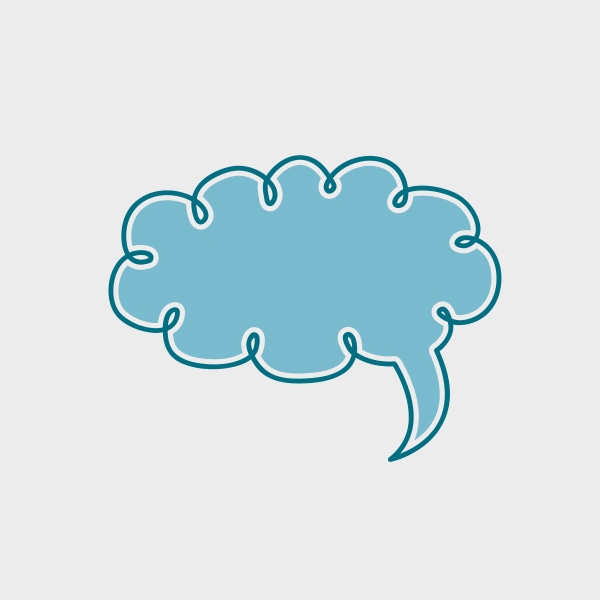 Free Vector of the Day #655: Cloud Speech Bubble Vector