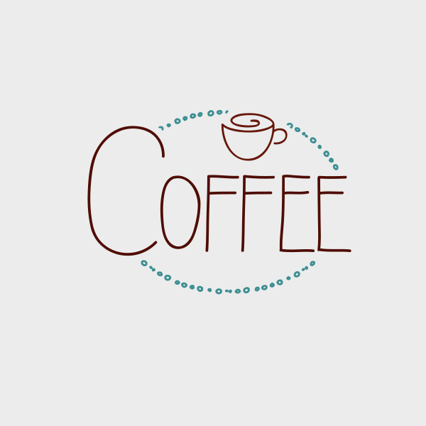 Free Vector of the Day #652: Hand-Drawn Coffee Label