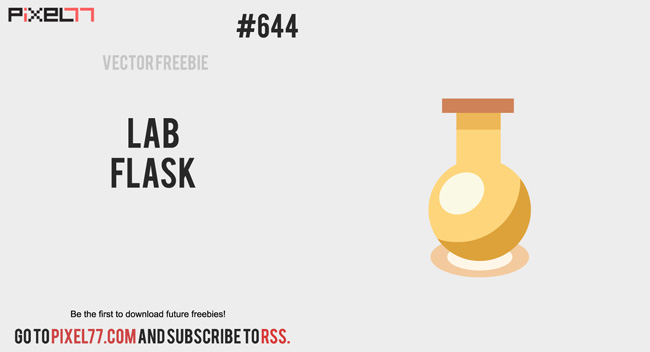 Download Lab Flask Vector for FREE.