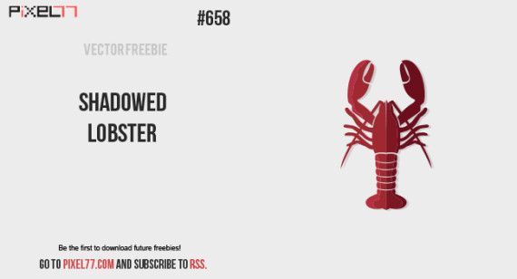 Download Shadowed Lobster Vector for FREE.