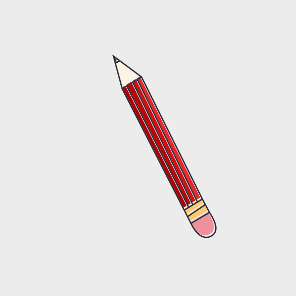 Free Vector of the Day #663: Stamp Pencil Vector