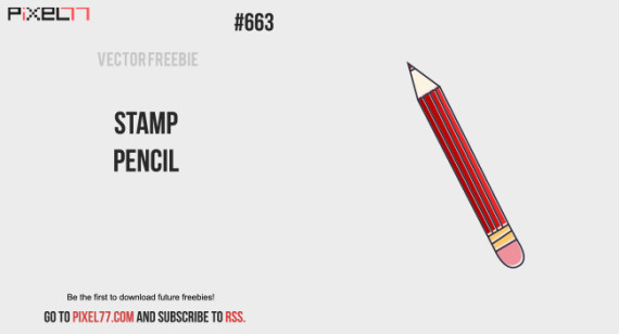 Download Stamp Pencil Vector for FREE.