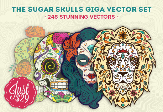 Deal of the Week: The Sugar Skulls Giga Vector Set – 248 Stunning Vectors for Just $29