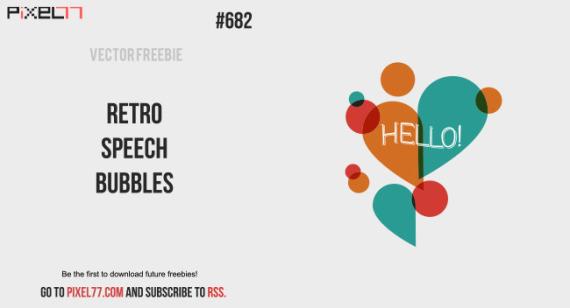 Download Retro Speech Bubbles Vector for FREE.