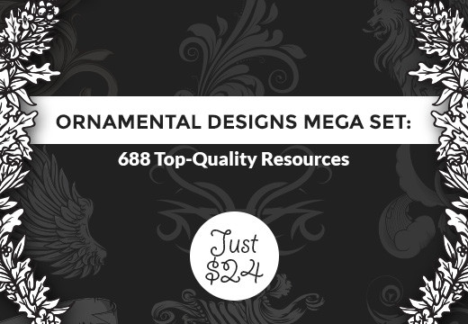Deal of the Week: Ornamental Designs Mega Set – 688 Top-Quality Resources for Just $24